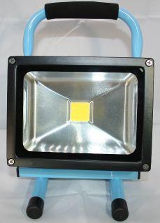 Akku-Strahler LED, 20 W, NW, Rahmenfarbe blau