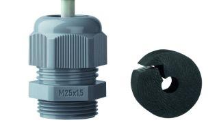 Metrische Kabelverschraubung M25x1,5 (geschlitze Dichtung)