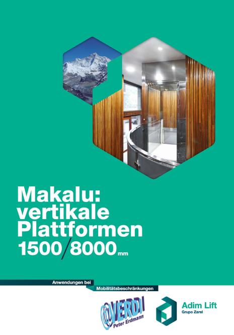 Katalog f�r Vertikale Plattformen des Models Makalu