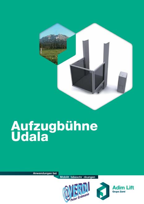 Katalog f�r Aufzugsb�hne des Models Udala
